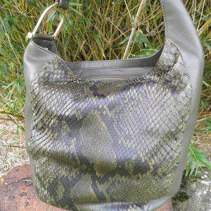 Gucci Greenwich Handbag Tote Python Leather